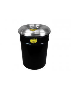 Cease-Fire® Waste Receptacle With Aluminum Head With Grill Guard, 6 gallon, Black - #26626K