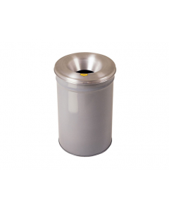 Cease-Fire® Waste Receptacle, Safety Drum Can With Aluminum Head, 30 gallon, Gray - #26630G