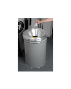 Cease-Fire® Waste Receptacle, Safety Drum Can With Aluminum Head, 55 gallon, Gray - #26655G