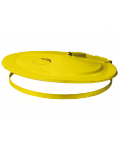 Drum Cover with Fusible Link for 200 L drum, self-close, steel, Yellow - #26751
