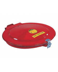 Drum Cover with Vent and Gasket for 55 gallon drum, manual-close, steel, Red - #26752