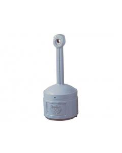 Original Smoker's CeaseFire® Outdoor Ashtray, 4 gallon, Polyethylene, Pewter Gray - #26800