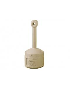 Original Smoker's CeaseFire® Outdoor Ashtray, 4 gallon, Polyethylene, Adobe Beige - #26800B