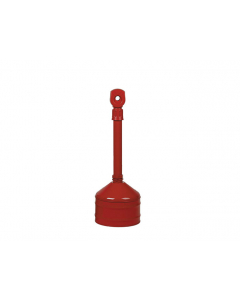 Heavy Duty Cigarette Butt Can, 2.5 gallon, base and neck steel, polyethylene topper, Red - #26810R