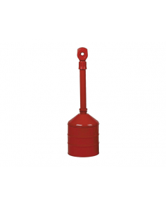 Heavy Duty Cigarette Butt Can, 5 gallon, base and neck steel, polyethylene topper, Red - #26811R