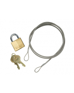 Anchoring Cable Kit With Padlock For Smokers's CeaseFire® Cigarette Butt Receptacle - #268505