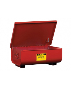 Rinse Tank, Benchtop, 11 gallon, lift-and-latch cover with fusible link, drain plug, Steel, Red - #27311