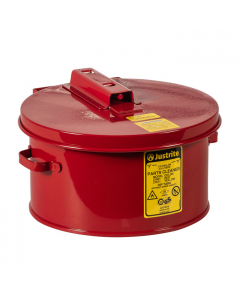 Dip Tank for Cleaning Parts, 1 gallon, Manual cover With Fusible Link, Steel, Red - #27601