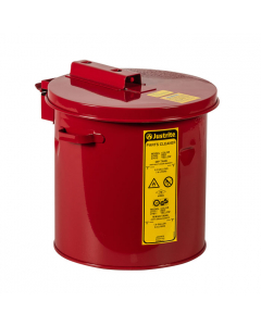 Dip Tank for Cleaning Parts, 2 gallon, Manual Cover With Fusible link, Steel, Red - #27602