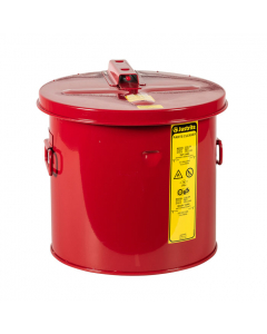 Dip Tank for Cleaning Parts, 3.5 gallon, Manual cover With Fusible Liink, Steel, Red - #27603