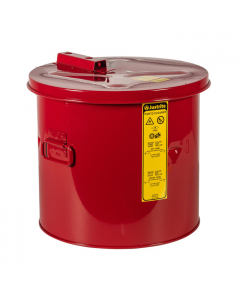 Dip Tank for cleaning parts, 5 gallon, Manual Cover With Fusible Link, Steel, Red. - #27605