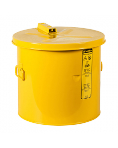 Dip Tank for Cleaning Parts, 5 Gallon, Manual cover With Fusible Link, Steel, Yellow - #27606