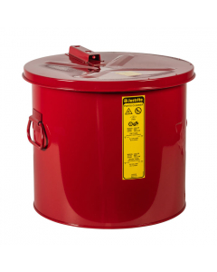 Dip Tank for cleaning parts, 8 gallon, manual cover with fusible link, Steel, Red - #27608