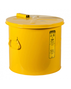 Dip Tank for cleaning parts, 8 Gallon, manual cover with fusible link, Steel, Yellow - #27618