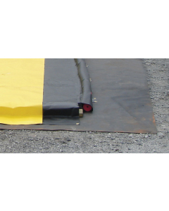 Ground Mat,  6'W x 6'L, BLACK - #28338