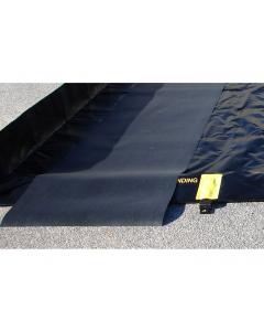 TRACK MAT,  3'W x 16'L, BLACK - #28348