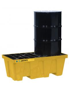 EcoPolyBlend Spill Control Pallet, 2 drum, recycled polyethylene, Yellow - #28622