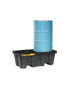 EcoPolyBlend Spill Control Pallet, 2 drum, recycled polyethylene, Black - #28623
