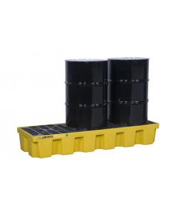 EcoPolyBlend Spill Control Pallet, 3 drum, recycled polyethylene, Yellow - #28626