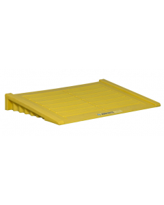 Ramp for 2 Drum and larger EcoPolyBlend Accumulation Center, polyethylene, Yellow - #28650