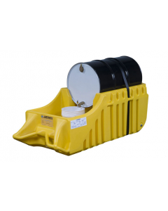 EcoPolyBlend Spill Containment Indoor/Outdoor Caddy, non-recycled polyethylene, Yellow - #28664