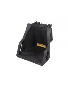 EcoPolyBlend Drum Management Dispensing Shelf mounts to Stack Module, recycled polyethylene, Black - #28671