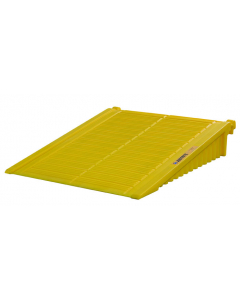 Ramp for 2 to 4-Drum EcoPolyBlend DrumShed, polyethylene, Yellow - #28678