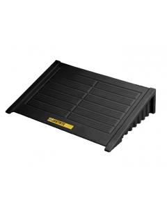 Ramp for 4 Drum Square EcoPolyBlend Spill Control Pallet, recycled polyethylene, Black - #28688