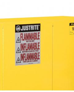 Haz-Alert Flammable large warning label for safety cabinet - #29002