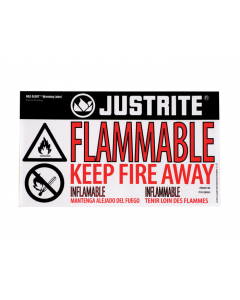Haz-Alert Flammable small warning label for safety cabinet - #29004