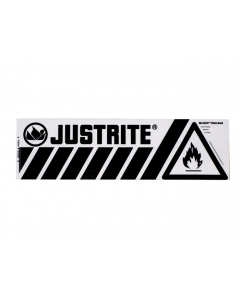 Haz-Alert Flammable small safety band label for bottom of safety cabinet - #29005