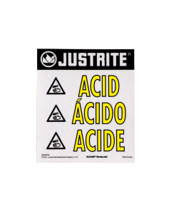 Haz-Alert Acid large warning label for safety cabinet - #29006