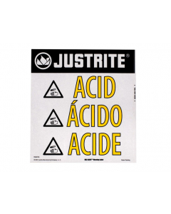 Haz-Alert Acid small warning label for safety cabinet - #29008