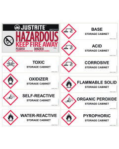 Replacement/ Retrofit Label Pack for Hazardous Material Cabinets - #29017