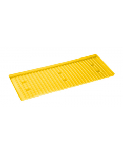 Yellow Polyethylene Tray and Sump for shelf #29941 or 54 gallon Deep Slimline safety cabinet - #29057