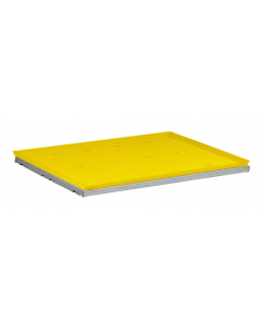 SpillSlope® Steel Shelf with Yellow Polyethylene Tray for 22 gallon Undercounter safety cabinet - #29061