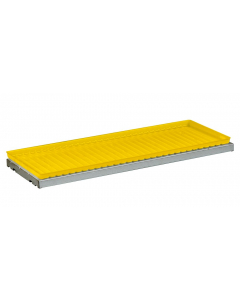 SpillSlope® Steel Shelf with Yellow Polyethylene Tray for 17, 30, 45 gallon safety cabinets - #29062