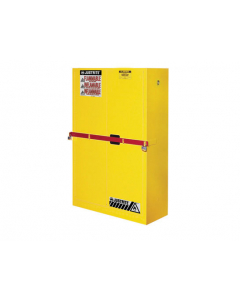 45 Gal Yellow High Security Flammables Safety Cabinet with Steel Bar, 2 Manual Close Doors- #29884Y