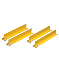 "Shelf Dividers fit shelf depth of 14"", set of 4, yellow - #29985"