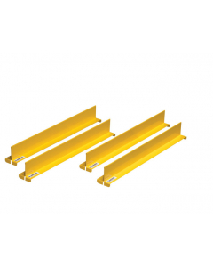 "Shelf Dividers fit shelf depth of 18"", set of 4, yellow - #29990"