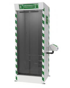Hughes Emergency Cubicle Shower, Multi-Nozzle Body Wash with Eye and Face Wash - #SD31K45G