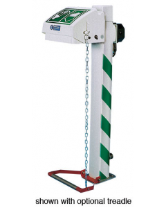 Hughes Eye and Face Wash, Freeze Protected, Pedestal Mount, Closed ABS Bowl, Galv. Pipe, 120V C1D2 - #H45GP-1H