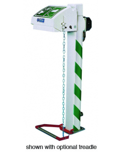 Hughes Eye and Face Wash, Freeze Protected, Pedestal Mount, Closed ABS Bowl, Galv. Pipe, 240V C1D2 - #H45GP-2H