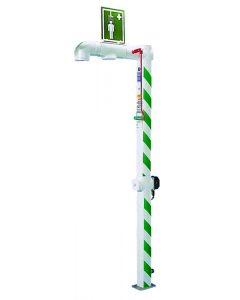 Hughes Drench Shower, Freeze Protected, Floor Mount, Galvanized Pipe, 240V C1D2 - #H5G-2H