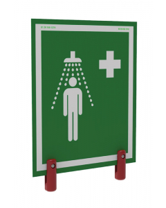 Universal Safety Shower Sign With Brackets, Outdoor Showers With Insulation - #S-BRAC-SIGN-H