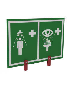 Universal Safety Shower and Eye/Face Wash Sign With Brackets, Outdoor Showers With Insulation - #ES-BRAC-SIGN-H