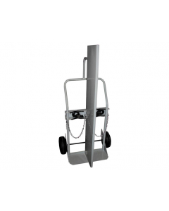 Double Cylinder Hand Truck with Firewall, 10.5 Inch Pneumatic Wheels - #35042