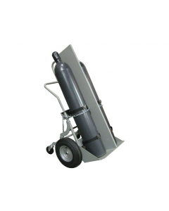 Double Cylinder Hand Truck with Firewall, 16 Inch Pneumatic Wheels, Rear Casters - #35044