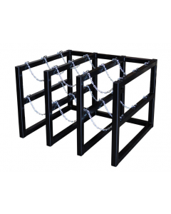 3W x 3D Gas Cylinder Storage Rack | For 9 Cylinders- #35134