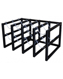4W x 3D Gas Cylinder Storage Rack | For 12  Cylinders- #35156